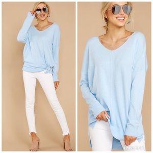 Wind Down Sky Blue Sweater